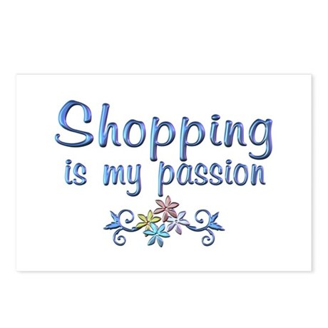 Shopping Passion Postcards (Package of 8)