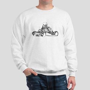 Kart Racing in Black and White Sweatshirt