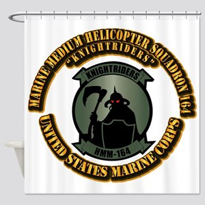 USMC - HMM - 164 With Text Shower Curtain