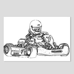 Kart Racing Postcards (Package of 8)