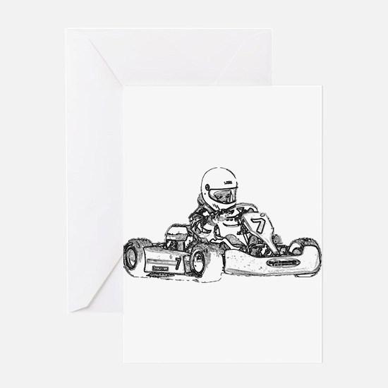 Kart Racing Greeting Cards