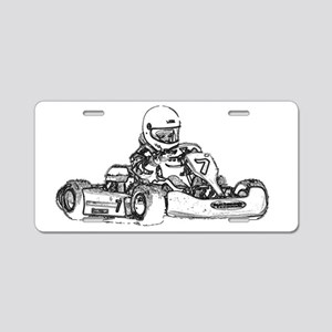 Kart Racing Aluminum License Plate