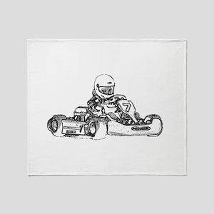 Kart Racing Throw Blanket