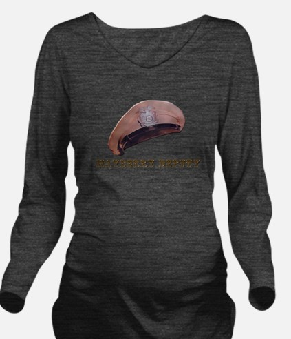 Mayberry Deputy Hat Long Sleeve Maternity T-Shirt