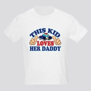 This Kid Loves Her Daddy Police Kids Light T-Shirt