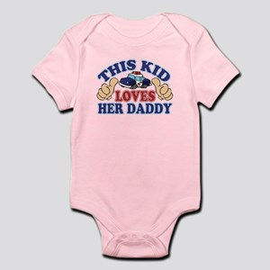This Kid Loves Her Daddy Police Infant Bodysuit