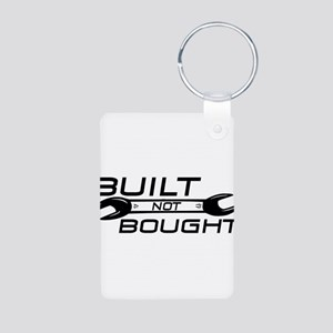 Built Not Bought Aluminum Photo Keychain