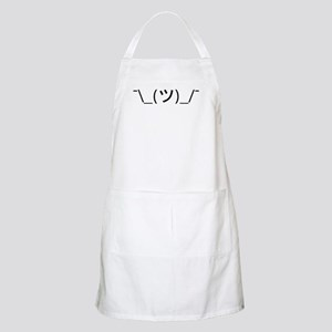 Shrug Emoticon Japanese Kaomoji Apron