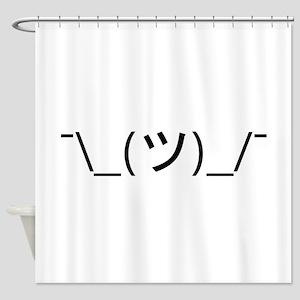 Shrug Emoticon Japanese Kaomoji Shower Curtain