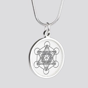 Metatrons Cube Silver Round Necklace