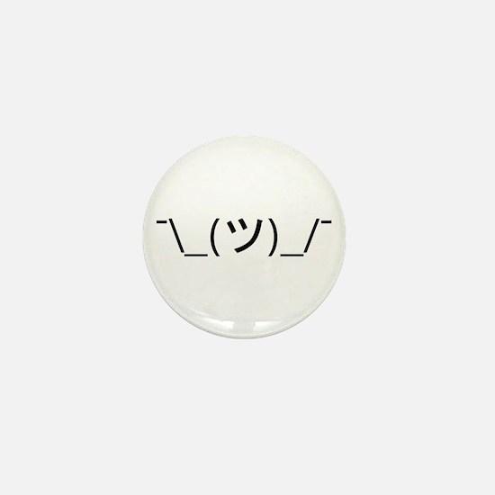 Shrug Emoticon Japanese Kaomoji Mini Button