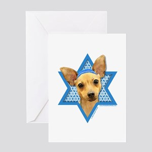 Hanukkah Star of David - Chihuahua Greeting Card