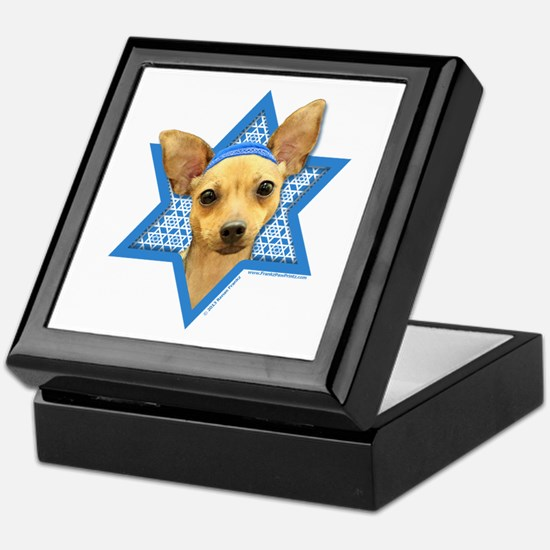 Hanukkah Star of David - Chihuahua Keepsake Box