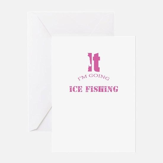 Ice Fishing Design Greeting Cards