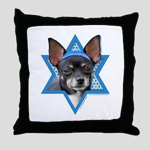 Hanukkah Star of David - Chihuahua Throw Pillow