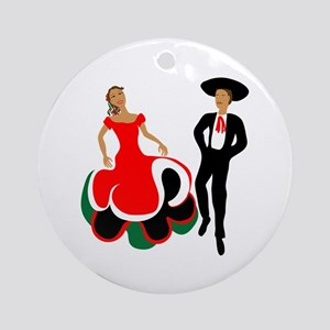 Mexican Dancers Ornament (Round)