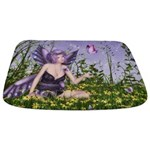 Purple Spring Fairy Bathmat