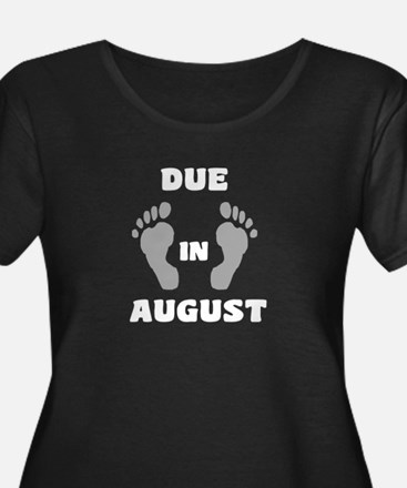 Due in August-black Plus Size T-Shirt