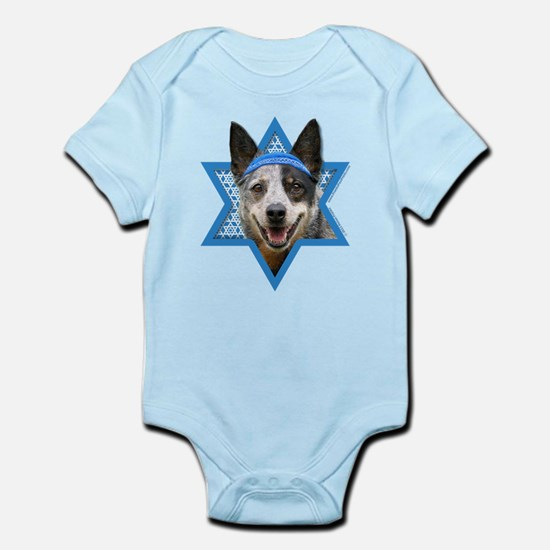 Hanukkah Star of David - Cattle Dog Infant Bodysui