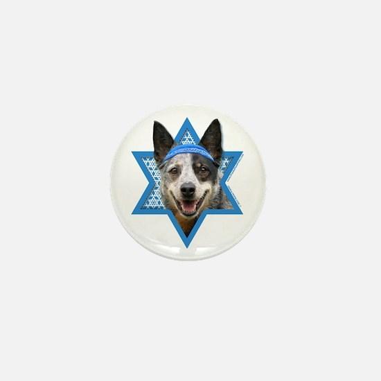 Hanukkah Star of David - Cattle Dog Mini Button