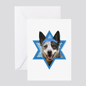Hanukkah Star of David - Cattle Dog Greeting Card