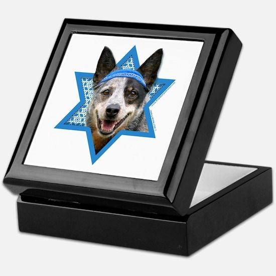 Hanukkah Star of David - Cattle Dog Keepsake Box