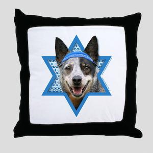 Hanukkah Star of David - Cattle Dog Throw Pillow