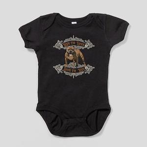 Live to Love Pit Bull Dog Baby Bodysuit