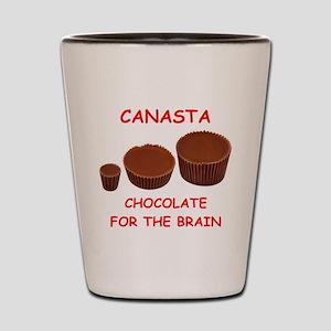 canasta Shot Glass