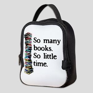 So Many Books Neoprene Lunch Bag