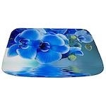 Blue Orchids Bathmat
