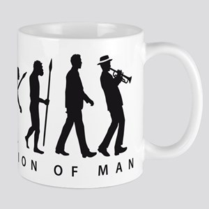 Evolution of man ska trumpet player Mugs