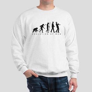 Evolution of man ska trumpet player Sweatshirt