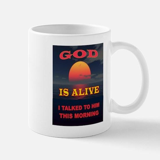 GOD IS ALIVE Mugs
