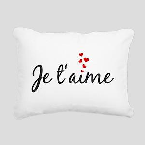 Je taime, I love you, French word art Rectangular