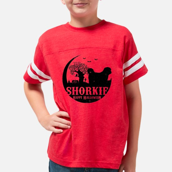 Funny Shorkie Youth Football Shirt