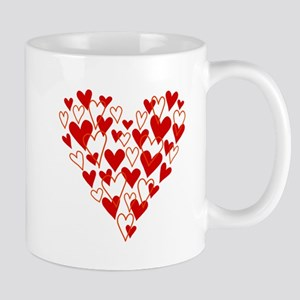 Hand drawn scribble heart Mugs