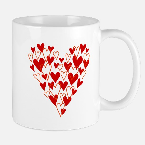 Hand drawn scribble heart Mugs