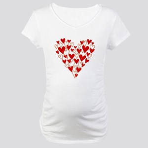 Hand drawn scribble heart Maternity T-Shirt