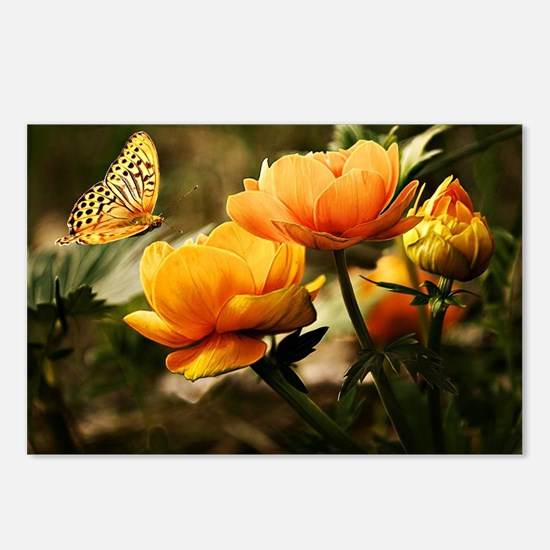 Golden Peonies and Butter Postcards (Package of 8)
