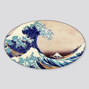 Great Wave Off Kanagawa Sticker (Oval)
