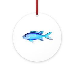 Blue Chromis Ornament (Round)