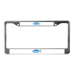 Blue Chromis License Plate Frame