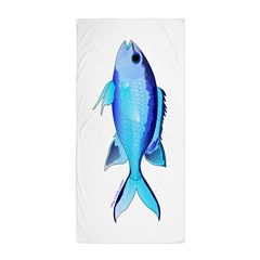 Blue Chromis Beach Towel