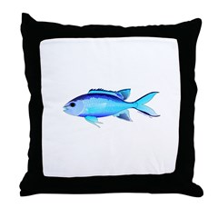 Blue Chromis Throw Pillow