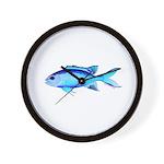 Blue Chromis Wall Clock