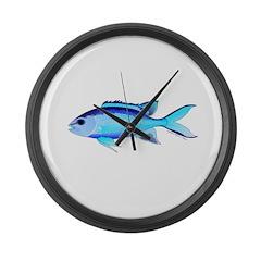 Blue Chromis Large Wall Clock