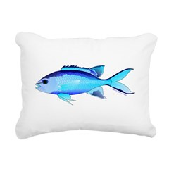Blue Chromis Rectangular Canvas Pillow