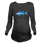 Blue Chromis c Long Sleeve Maternity T-Shirt