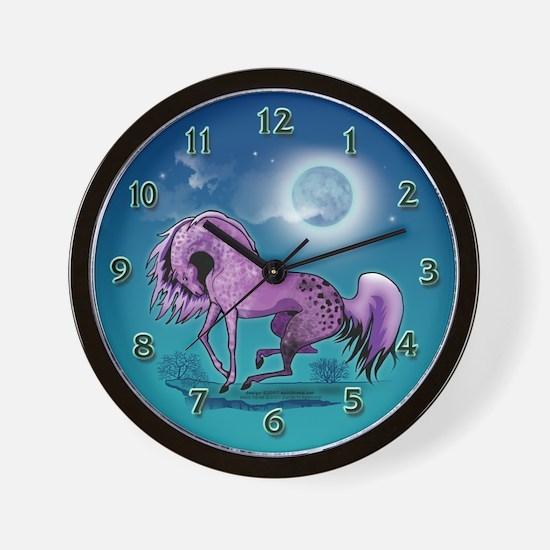Purple Appaloosa Wall Clock